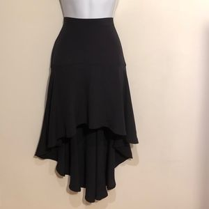 UO Kimchi Blue High Low Skirt Black